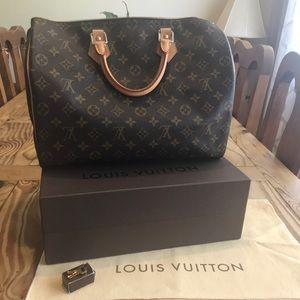 Never worn Louis Vuitton speedy 35